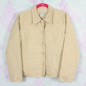The Territory Ahead M Khaki Tan Stripe Jacket